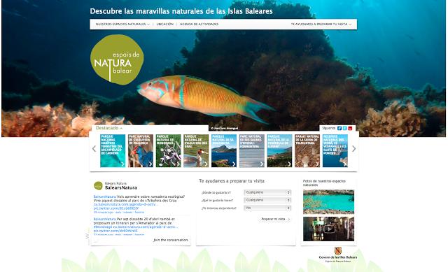 Nueva Web de Espais de Natura Balear www.balearsnatura.com